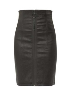Off-White Zipped leather skirt