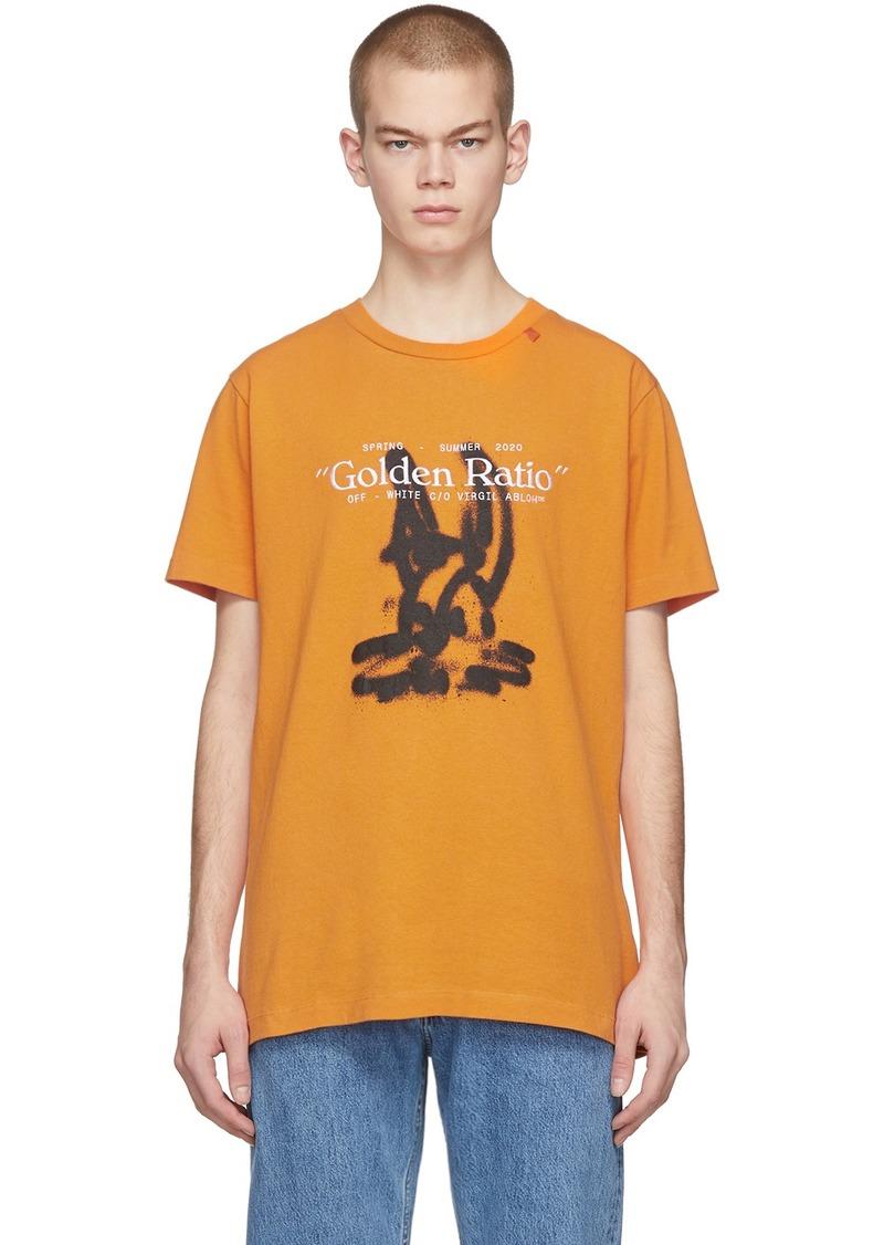 Off-White Orange Cartoon T-Shirt