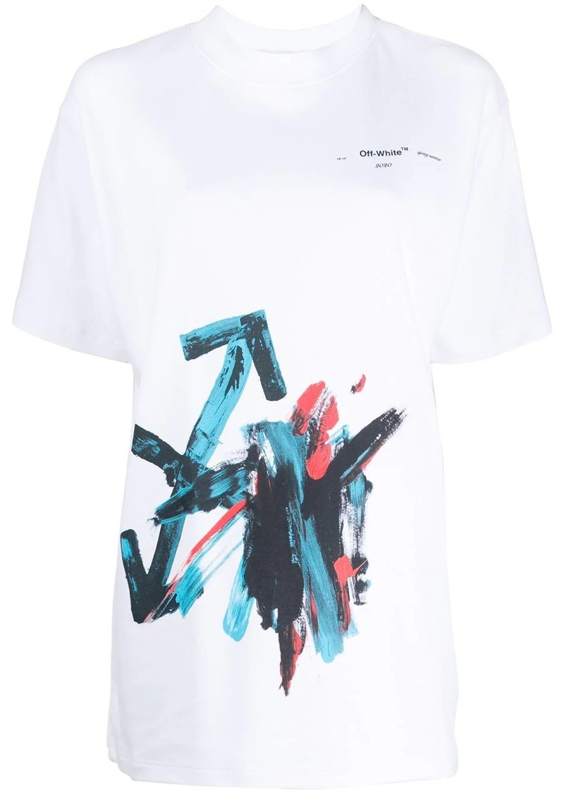 Off-White oversized brushstroke arrow T-shirt