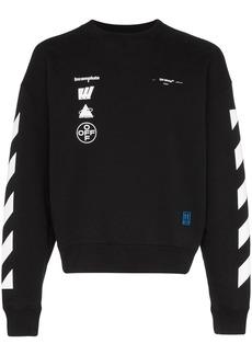 Off-White painting diagonal sweatshirt