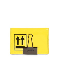 Off-White Patent Leather Card Holder