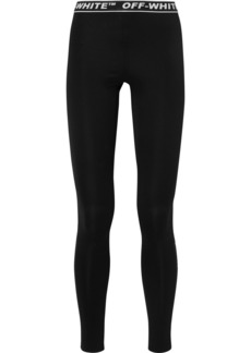 Off-White Perforated Stretch-jersey Leggings