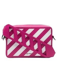 Off-White pink leather diagonal striped belt bag