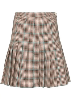 Off-White pleated checked mini skirt