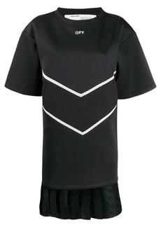 Off-White pleated hem T-shirt dress