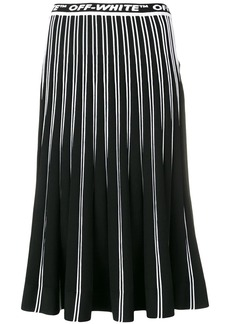 Off-White pleated knit skirt