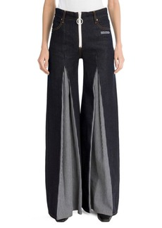 Off-White Pleated Raw Jeans