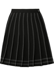 Off-White Pleated Twill Mini Skirt