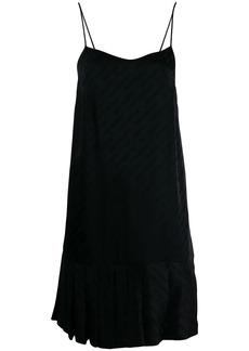 Off-White plissé slip dress