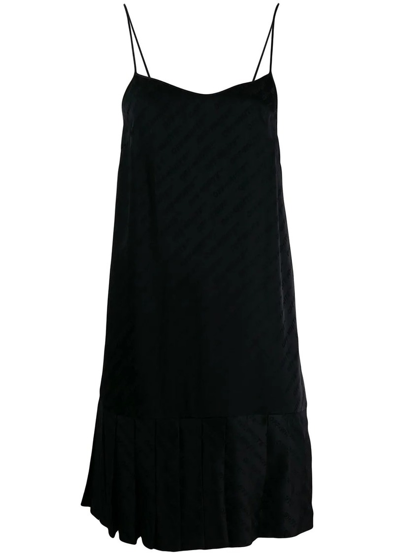 plissé slip dress