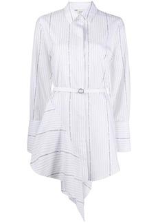 Off-White POPELINE ASYMMETRICAL DRESS WHITE BLACK