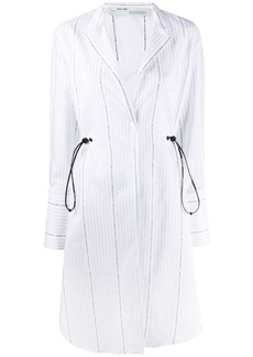 Off-White POPELINE COULISSE SHIRT DRESS WHITE BLAC