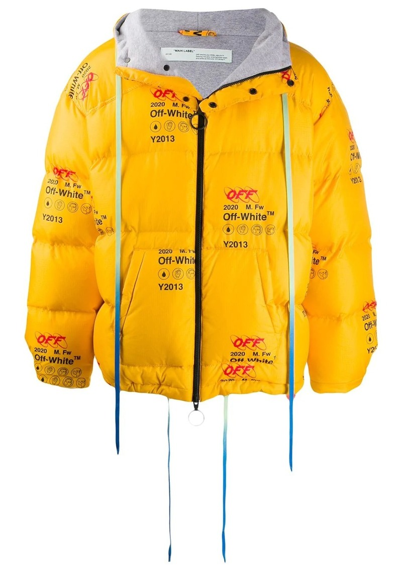 Off-White printed logo puffer jacket