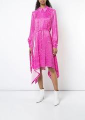 Off-White printed satin dress