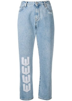 Off-White printed straight-leg jeans