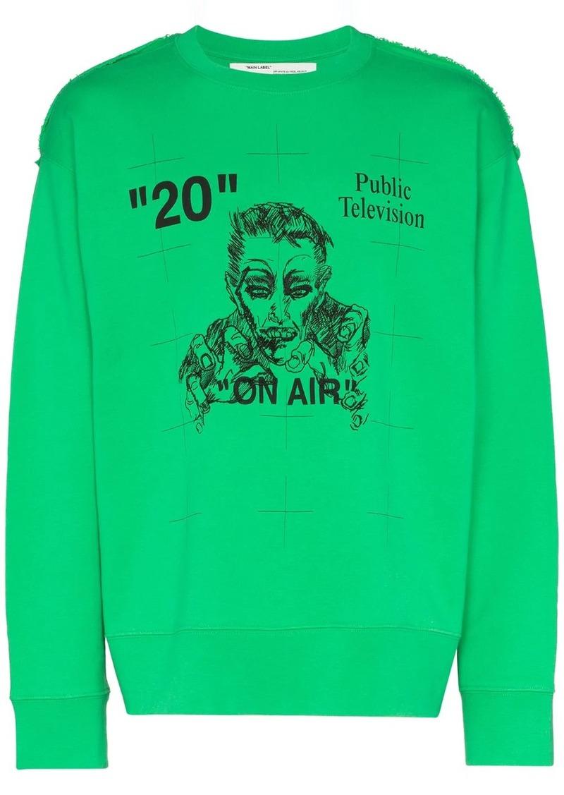 Off-White Public Television print sweatshirt