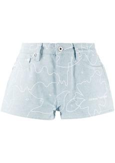 Off-White Puzzle denim shorts