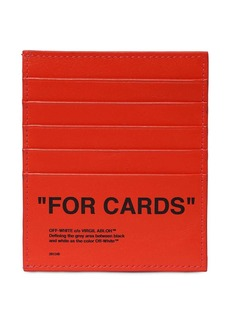 "Off-White ""Quote """"for Cards"""" Leather Card Holder"""