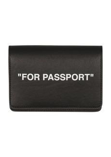 Off-White Quote Passport Holder