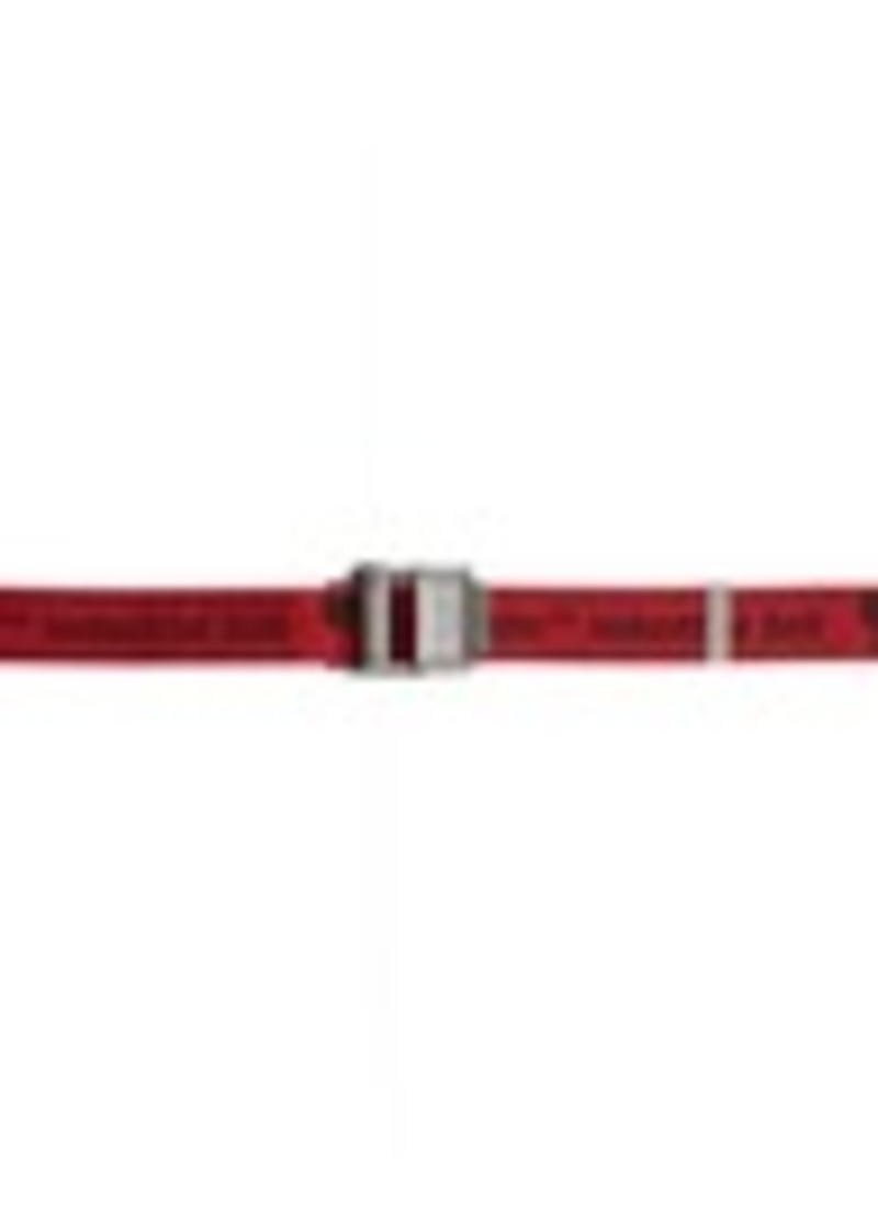 Off-White Red 2.0 Industrial Belt