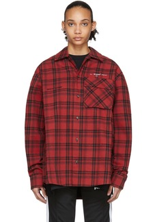Off-White Red Flannel Check Shirt