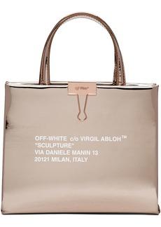 Off-White Rose Gold Mirror Box Bag
