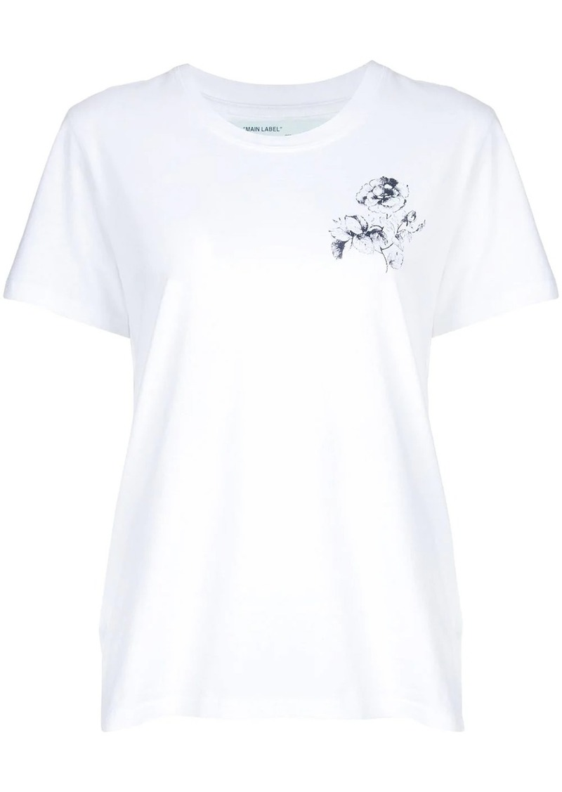 Off-White rose motif printed T-shirt