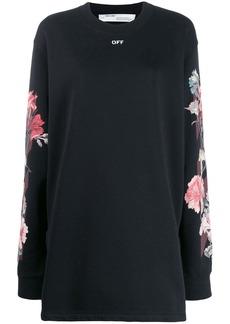 Off-White rose print sweater dress