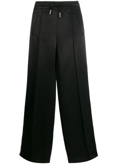 Off-White satin flared track pants