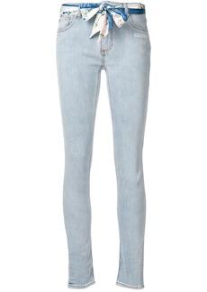 Off-White scarf belt skinny jeans