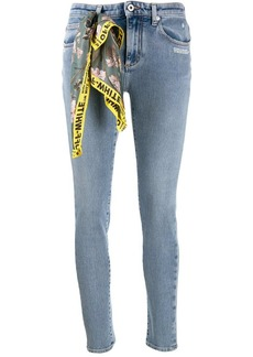 Off-White scarf detail skinny jeans