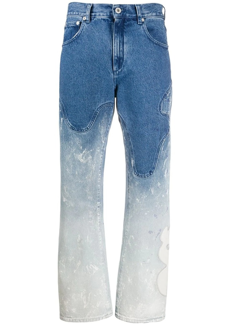Off-White shaped baggy bleached jeans
