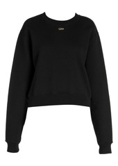 Off-White Shifted Carryover Cropped Crewneck Sweatshirt