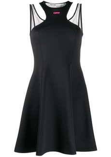 Off-White short jersey double straps dress