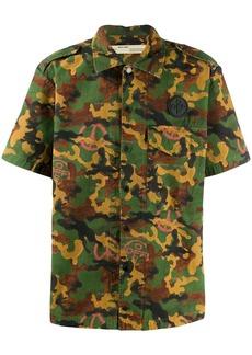 Off-White short-sleeved camouflage shirt