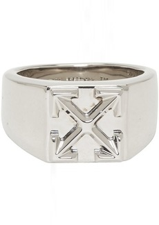 Off-White Silver Arrow Ring