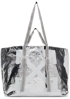 Off-White Silver New Commercial Tote