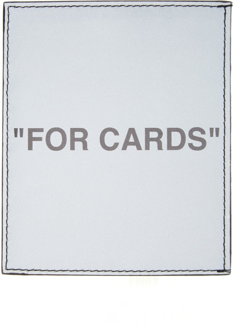 Off-White Silver Quote Card Holder