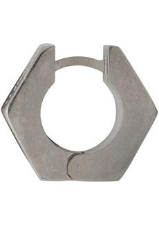 Off-White Silver Single Hexnut Earring