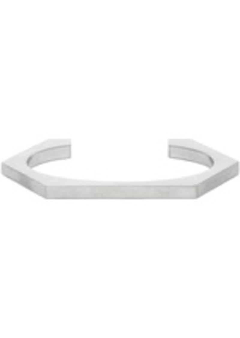 Off-White Silver Small Hexnut Bracelet