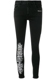 Off-White skinny distressed jeans