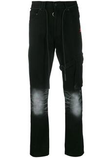 Off-White slim asymmetric jeans
