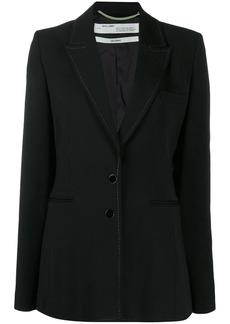 Off-White slim fit contrast stitching blazer