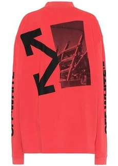 Off-White Splitted Arrow cotton top