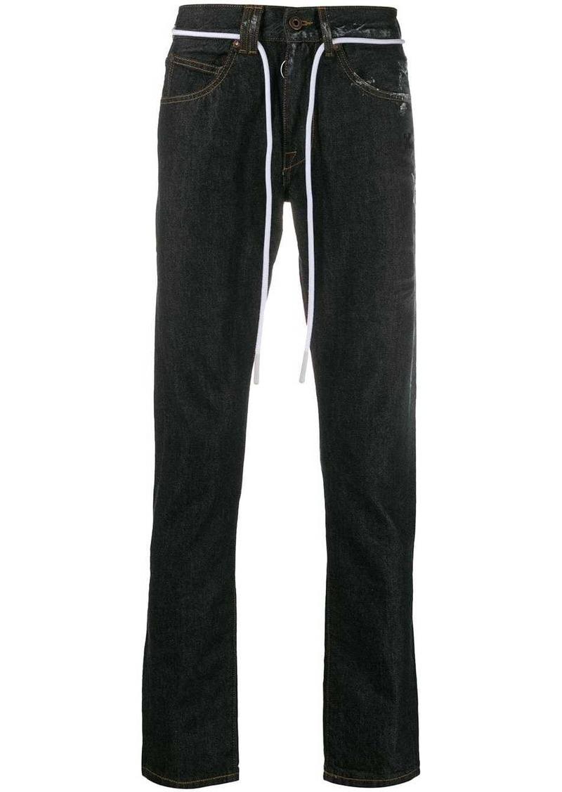 Off-White sprayed straight-leg jeans
