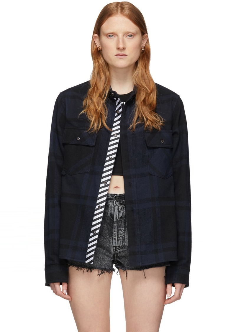 Off-White SSENSE Exclusive Black & Navy Stencil Shirt