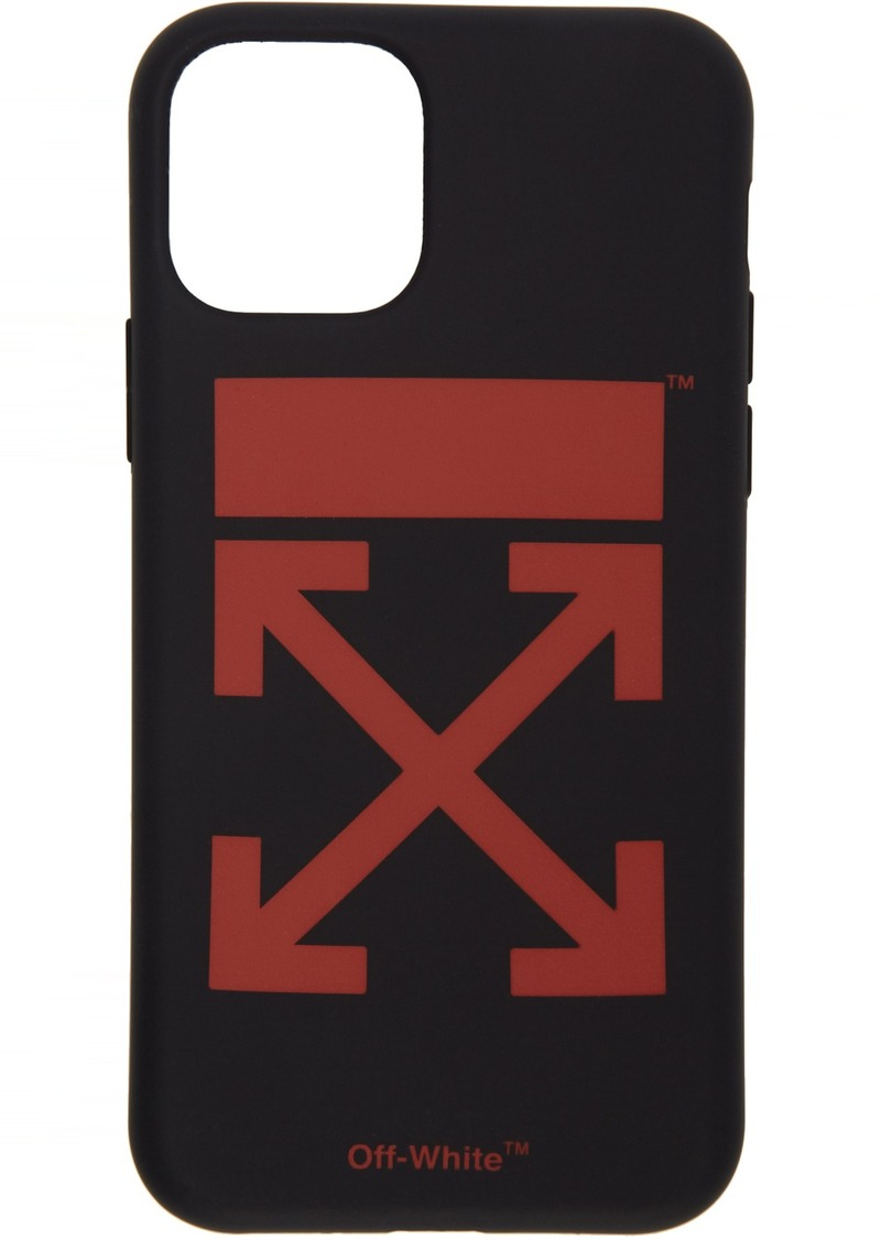 Off-White SSENSE Exclusive Black & Red Arrow iPhone 11 Case