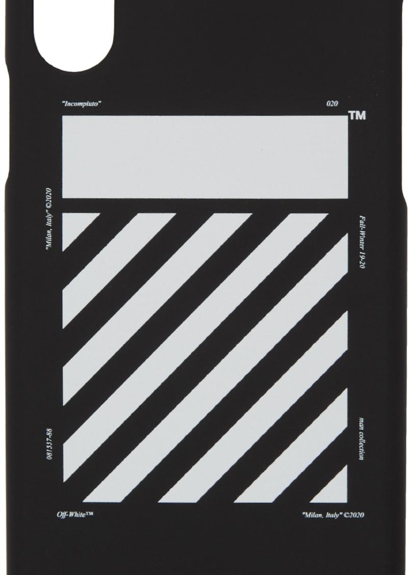 Off-White SSENSE Exclusive Black & White Diagonal iPhone 11 Case