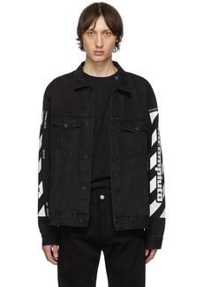Off-White SSENSE Exclusive Black Denim Incomplete Jacket
