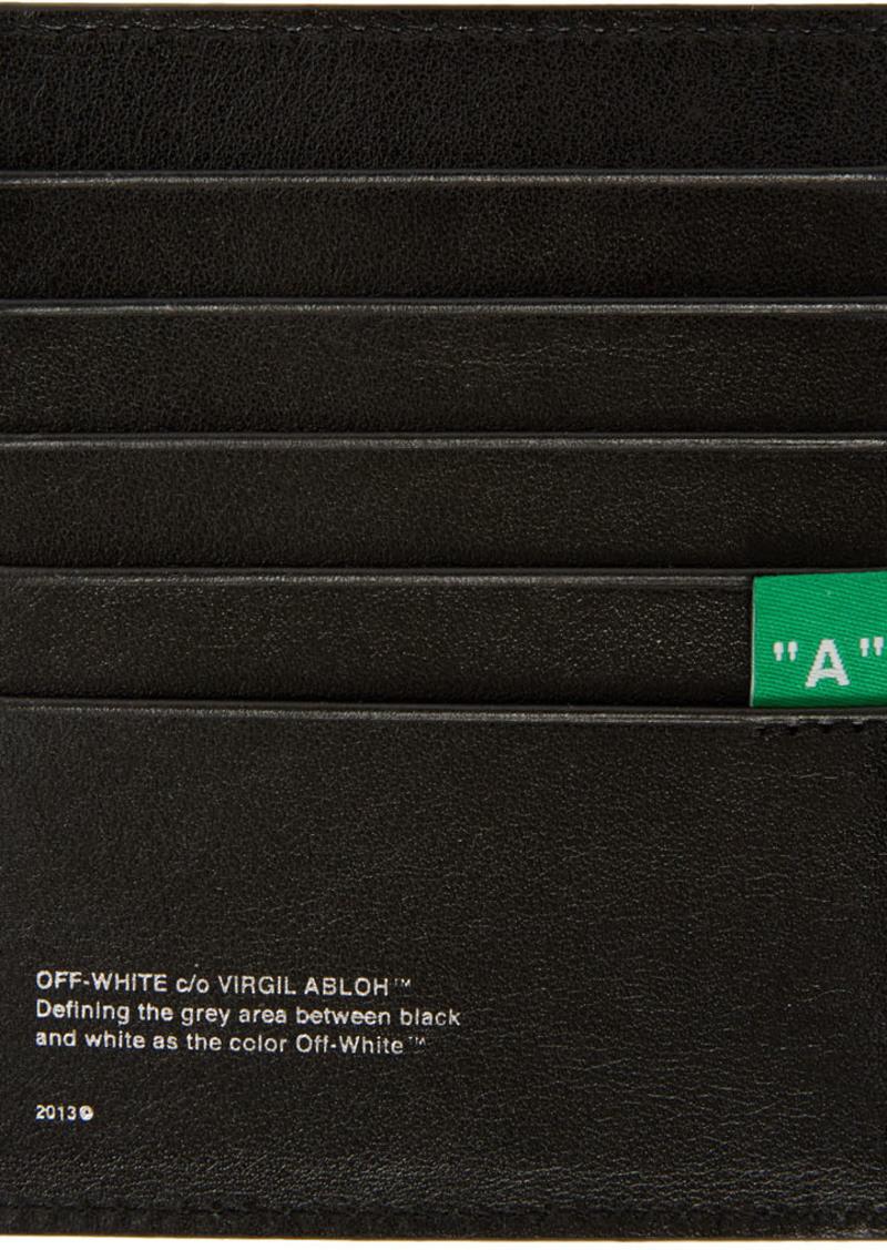 Off-White SSENSE Exclusive Black Diag Card Holder